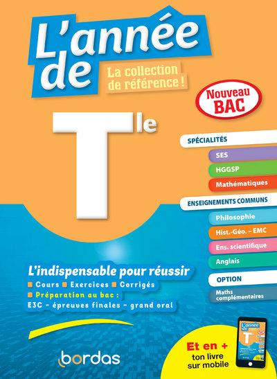 L'ANNEE DE TLE SPECIALITES SES + HGGP + MATHS + ENSEIGNEMENTS COMMUNS