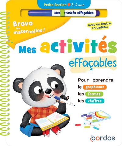 BRAVO LES MATERNELLES - MES ACTIVITES EFFACABLES -PETITE SECTION