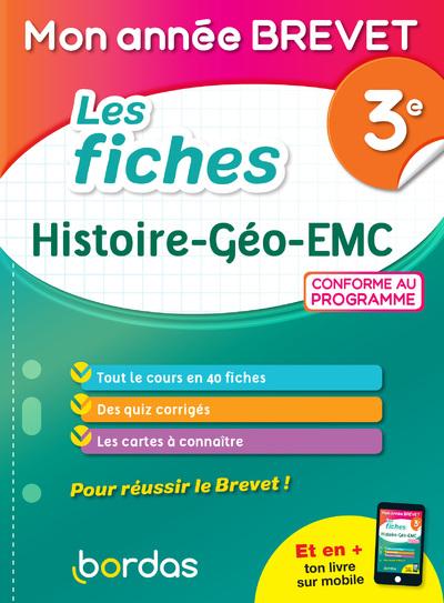 MON ANNEE BREVET - LES FICHES HISTOIRE GEO EMC 3E