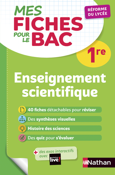 MES FICHES ABC POUR LE BAC ENSEIGNEMENT SCIENTIFIQUE 1RE