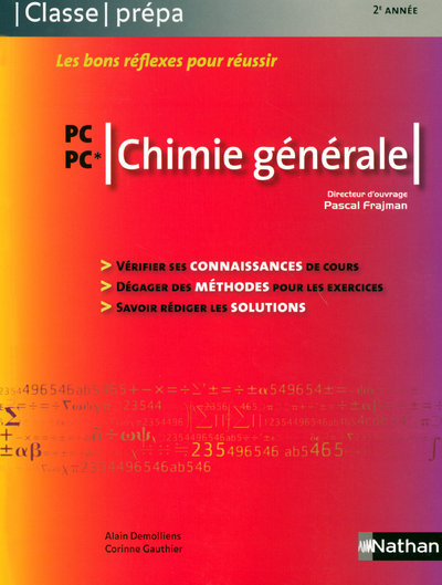 CHIMIE GENERALE - PC-PC*  CLASSE PREPA LIVRE