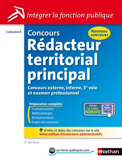 CONCOURS REDACTEUR TERRITORIAL PRINCIPAL CATEGORIEB INTEGRER LA FONCTION PUBLIQUE