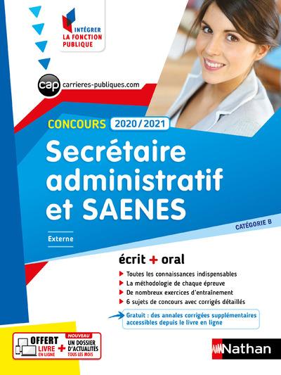 CONCOURS SECRETAIRE ADMINISTRATIF ET SAENES 2020 -2021 - CAT B N01 (IFP) 2020