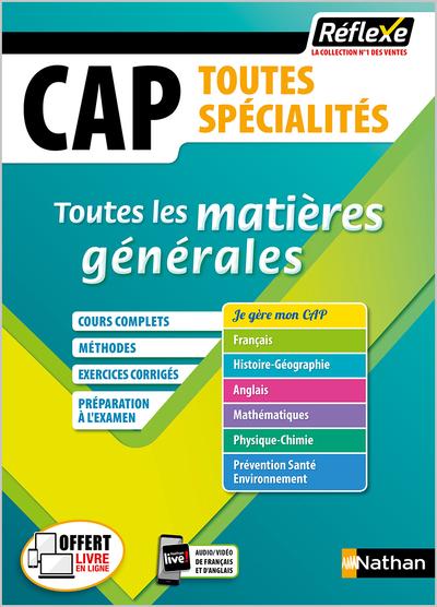 CAP (TOUTES LES MATIERES REFLEXE N°20) 2020