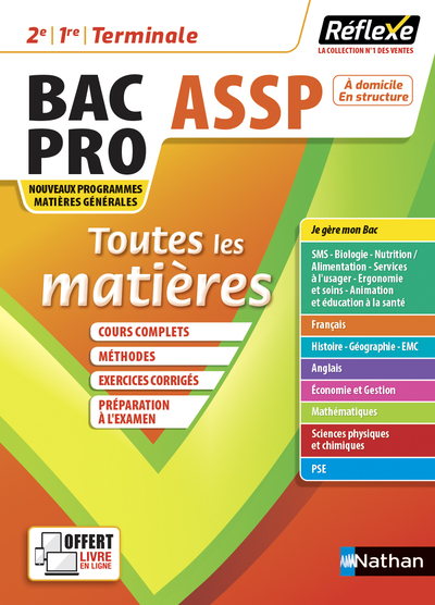 TOUTES LES MATIERES BPRO ASSP - REFLEXE N°14 2021