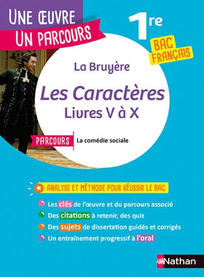 LA BRUYERE, LES CARACTERES - LIVRES V A X