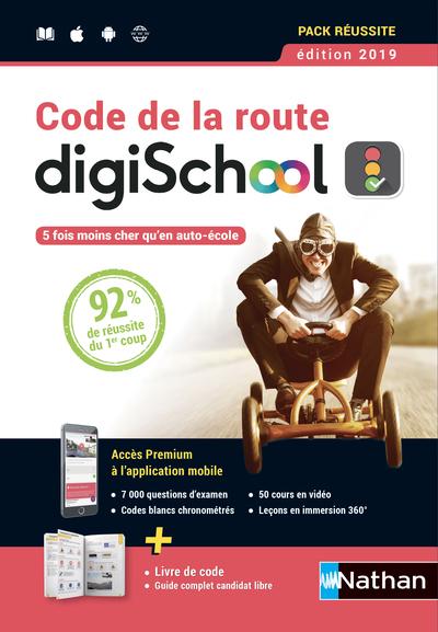 COFFRET CODE DE LA ROUTE DIGISCHOOL + 1 LIVRE + LIVRET + 1 CARTE D'ACTIVATION + 1 MARQUE PAGE