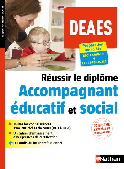 REUSSIR LE DIPLOME D'ACCOMPAGNANT EDUCATIF ET SOCIAL (DEAES) - (ETAPES FORMATIONS SOCIAL)