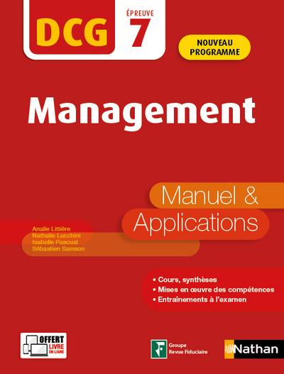 MANAGEMENT - DCG EPREUVE 7 - MANUEL ET APPLICATIONS - 2020