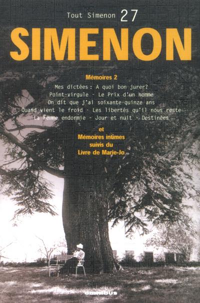 TOUT SIMENON - TOME 27 CENTENAIRE