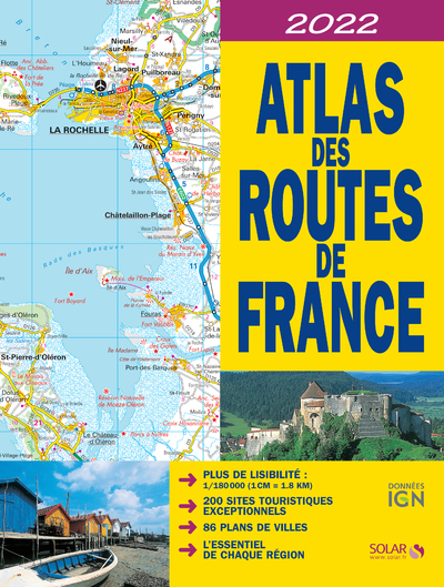 ATLAS DES ROUTES DE FRANCE 2022