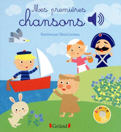 MES PREMIERES CHANSONS - LIVRE SONORE AVEC 6 PUCES- DES 1 AN