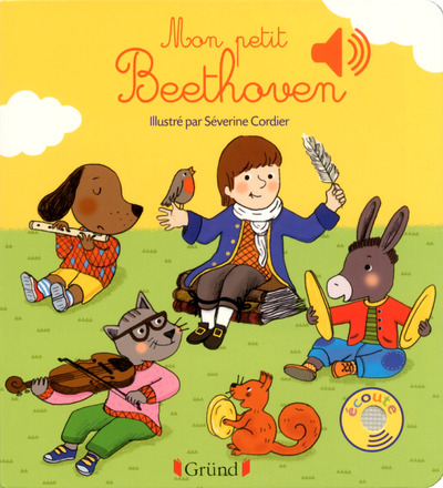 MON PETIT BEETHOVEN - LIVRE SONORE AVEC 6 PUCES - DES 1 AN