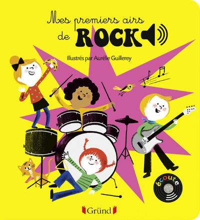 MES PREMIERS AIRS DE ROCK - LIVRE SONORE AVEC 6 PUCES - DES 1 AN