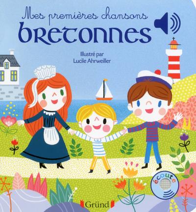 MES PREMIERES CHANSONS BRETONNES - LIVRE SONORE AVEC 6 PUCES - DES 1 AN