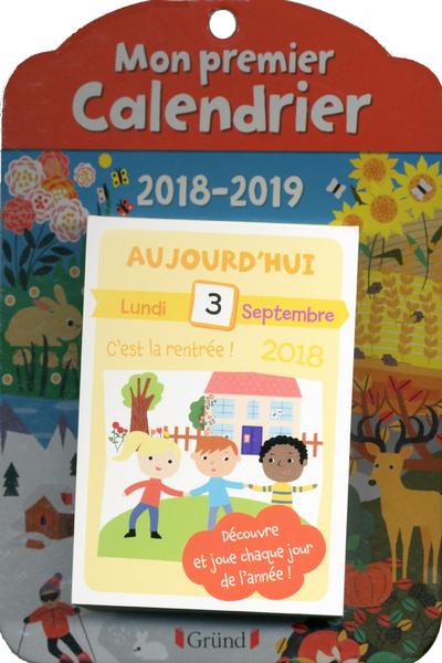 MON PREMIER CALENDRIER - ANNEE SCOLAIRE 2018-2019