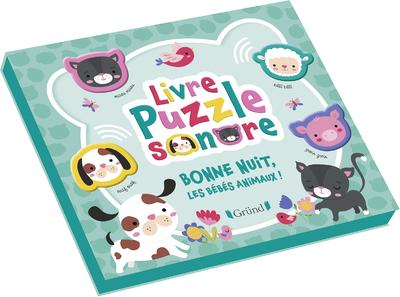 LIVRE PUZZLE SONORE - BONNE NUIT, LES BEBES ANIMAUX !