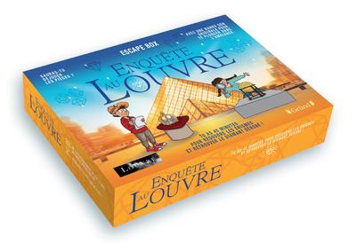 ESCAPE BOX - ENQUETE AU LOUVRE - ESCAPE GAME ENFANT DE 2 A 5 JOUEURS AVEC 40 CARTES, 1 LIVRET, 1 POS