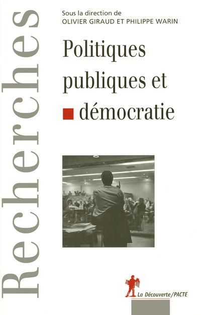 POLITIQUES PUBLIQUES ET DEMOCRATIE