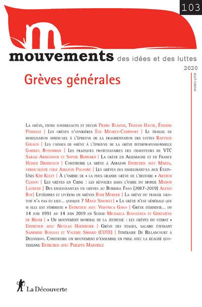 REVUE MOUVEMENTS NUMERO 103 GREVES GENERALES