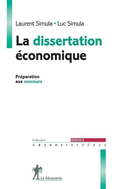 LA DISSERTATION ECONOMIQUE