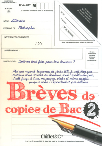 BREVES DE COPIES DE BAC - TOME 2