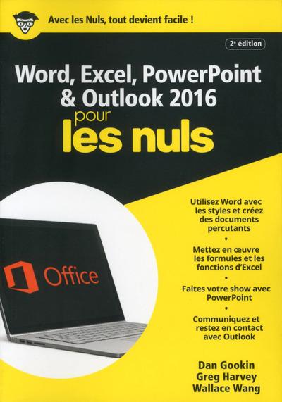 WORD & EXCEL POWERPOINT & OUTLOOK 2016 MEGAPOCHE POUR LES NULS, 2E EDITION