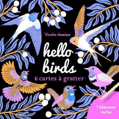 CARTES A GRATTER MINI - HELLO BIRDS