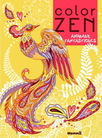 COLOR ZEN - ANIMAUX FANTASTIQUES (PHENIX)