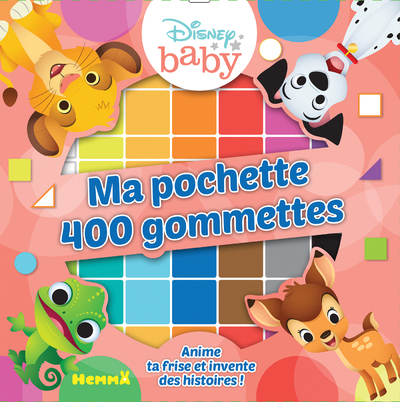 DISNEY BABY - MA POCHETTE 400 GOMMETTES (LES ANIMAUX)