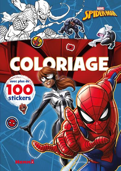 MARVEL SPIDER-MAN - COLORIAGE AVEC PLUS DE 100 STICKERS (SPIDER-MAN ET SPIDER-GIRL)