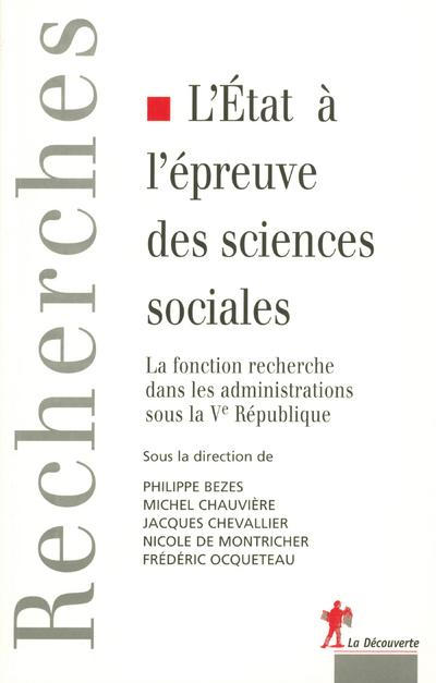 L'ETAT A L'EPREUVE DES SCIENCES SOCIALES