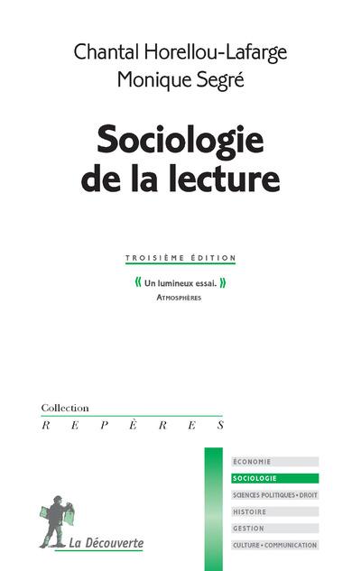 SOCIOLOGIE DE LA LECTURE 3E EDITION