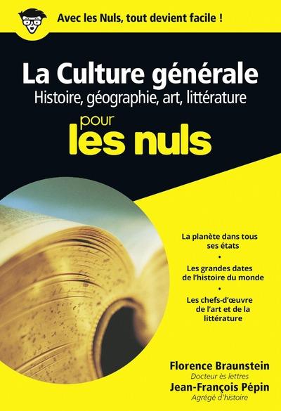 CULTURE GENERALE POCHE POUR LES NULS TOME 1