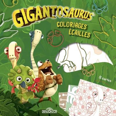 GIGANTOSAURUS - COLORIAGES ECAILLES