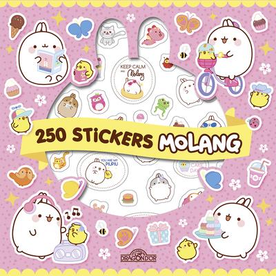 MOLANG - 250 AUTOCOLLANTS KAWAI