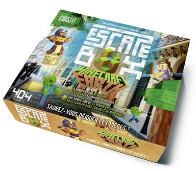 ESCAPE BOX MINECRAFT EARTH - ESCAPE GAME ENFANT DE2 A 5 JOUEURS - DE 8 A 12 ANS